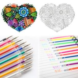 Lot 48 Colors Gel Pens Refills Glitter Drawing Painting Craf