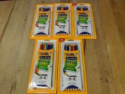 Lot of 5 Packs of BIC XTRA-FUN #2 HB Pencils 40 Pencils in T