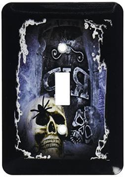3dRose lsp_28314_1 Grave Marker and Skull Halloween Skull De