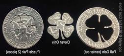 Lucky Golf Ball Marker Good Luck Four 4-Leaf Clover Cut Coin