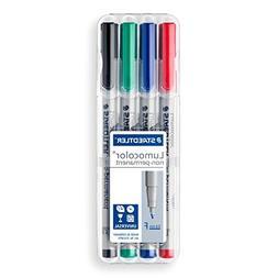 Staedtler Lumocolor Non-Permanent Fine Point Markers, 0.6mm