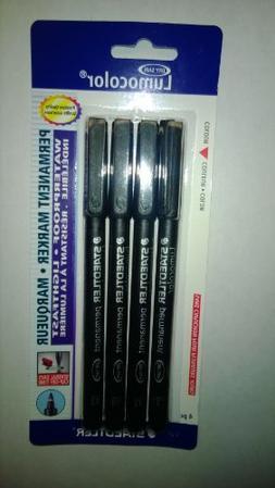 Staedtler Lumocolor Permanent Pen 318-9 Fine 0.6mm Line - Bl