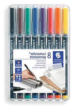 Lumocolor Permanent Superfine Marker 0.4mm 8 Color Set