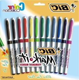 Bic Mark-It Color Collection Permanent Markers, Ultra Fine P