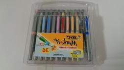 BIC MARK IT PERMANENT MARKER SET OF 36 ULTRA FINE - COLOR mi