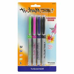 BIC Mark It Permanent Markers, Ultra Fine Point, Assorted Co