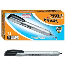 ** Mark-it Retractable Permanent Marker, Black, Dozen
