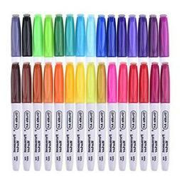 Shuttle Art Marker Pen Permanent  Fine Point Set of 30 Color