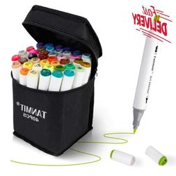 Tanmit Marker Pens Dual Tips Permanent Art Markers For Kids,