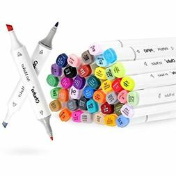 Markers & Highlighters Ohuhu 60 Colors Dual Tips Permanent P