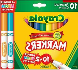 Crayola Markers Assorted colors Bonus Pack, 12/Box