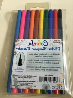 Marvy Uchida Color In Markers Brush Tip 4400B-10A - PRIMARY
