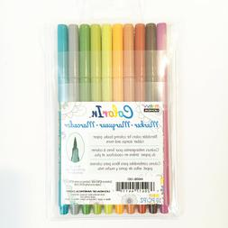 Marvy Uchida Color In Markers Brush Tip 4400B-10D -EARTH TON