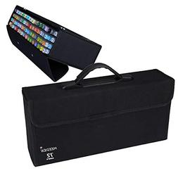 MEEDEN 72 Piece Markers Carrying Case Empty Holder for Copic