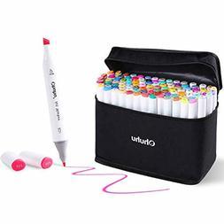 Ohuhu Markers Set 100 Colors Broad Fine Tip Chisel Pens High
