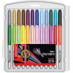 BIC Marking Pen Style Barrel Permanent Marker Set, Ultra Fin