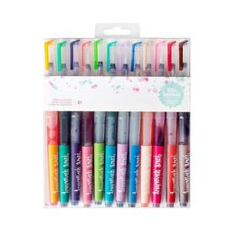 Jane Davenport Mermaid Markers 12-Pack, Pre-Filled Watercolo