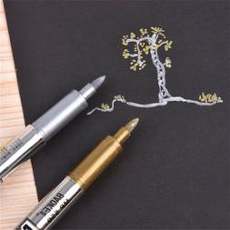 Metallic Gold Silver Waterproof Marker Pen DIY Album Photo S