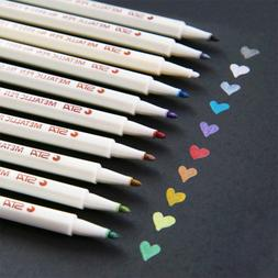 Dyvicl Metallic Marker Paint Pens - Fine Point Markers for A