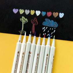 Metallic Marker Pen DIY Scrapbooking Crafts Soft Brush Pen A