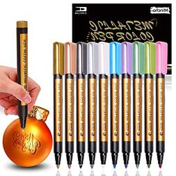 Metallic Markers Pen for Rock Painting - Medium Point Tip, M