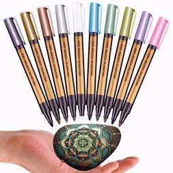 Metallic Paint Marker Pens Metallic Sheen Glitter Calligraph