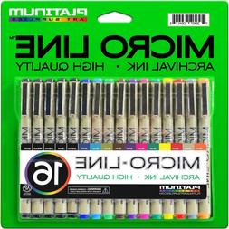 Micro-Line Ultra Fine Point Ink Pens -  - Archival Ink - Ass