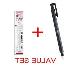 2 X Tombow MONO Zero Eraser, Round Tip 2.3mm, Retractable, B