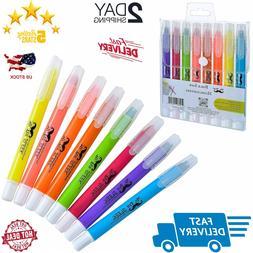 Mr. Pen Dry Highlighter Gel Pack Of 6 Bible No Bleed Highlig