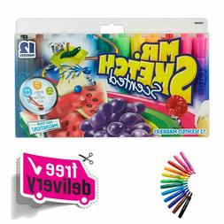Mr. Sketch 12-Pack Scented Markers Chisel Tip Art Markers As