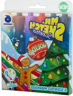 Mr. Sketch Scented Washable Marker Set 6/Pkg-Chisel Holiday