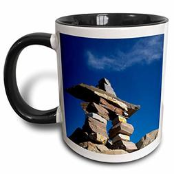 "3dRose mug_71854_4""Newfoundland, Inukshuk, First Nations mar"