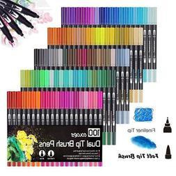 Multi Colors Dual Tip Brush Pens Markers Art Paint Pen Brush