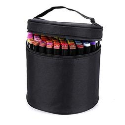 BTSKY Multifunction Marker Case - Zippered Canvas Pen Bag Pe