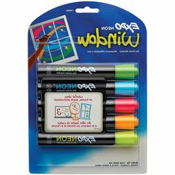 EXPO Neon Dry Erase Markers, Bullet Tip, Assorted Colors, 5-
