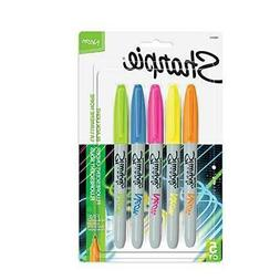Sharpie 1860443 Neon Permanent Markers, Fine Point, Assorted
