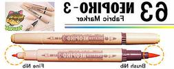 NEOPIKO-3 Brown Tan Shades Deleter Fabric Marker Professiona