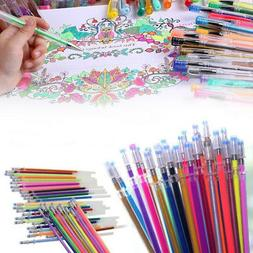 New 24 Colors Gel Pens Refills Glitter Drawing Painting Craf