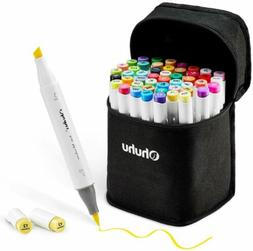 Ohuhu 48 Pieces Double Tipped  Sketch Markers for Kids, Arti