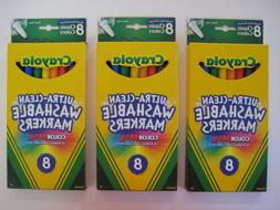 NEW Crayola 8 FINE LINE Ultra-Clean Washable Markers - LOT o
