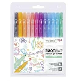 New! Tombow-Dual Tip Twintone Markers Pastel Set Twin Tone P
