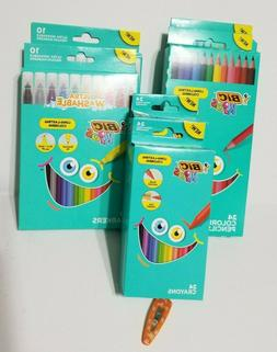 New Bic KIDS Washable Markers Coloring Pencils Crayons Lot N