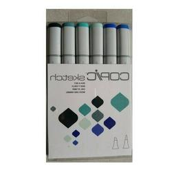 NEW Copic Markers 6-Piece Sketch Set, Sea and Sky