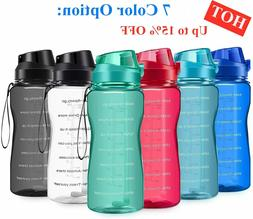 New Motivational Water Bottle 2.2L/64oz Half Gallon Jug with