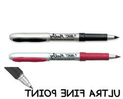 New BIC Permanent Marker ULTRA Fine Point 2X Set Red Black F