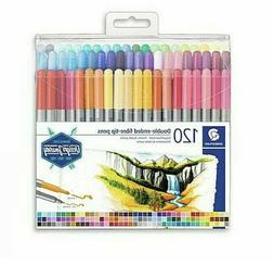 New Set! Staedtler 3200 120 Double Ended Fibre-Tip Pens 120