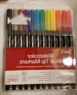 NEW Studio 71 Brand Watercolor Dual Tip Markers 12 Piece