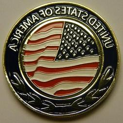 NEW USA American Flag Magnetic Pocket Coin With Golf Ball Ma