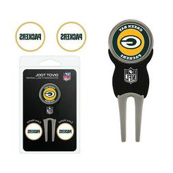 NFL Green Bay Packers Signature Divot Tool and 2 Extra Marke