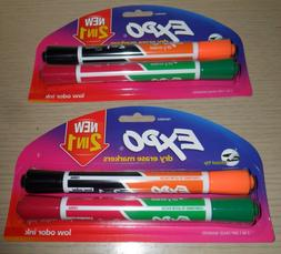 NIP EXPO NEW! 2 IN 1 DRY ERASE MARKERS 1944654 2 PACK RED,GR